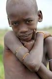 非洲男孩的画象 免版税库存图片