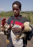 非洲男孩的画象 免版税库存照片