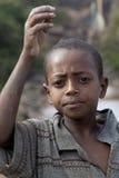 非洲男孩的画象 库存照片