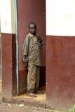 非洲男孩的画象 图库摄影