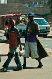非洲男孩街道 库存照片