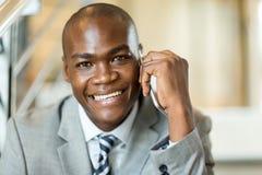 非洲男性公司工作者 库存照片