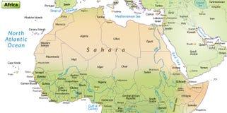 非洲的地图 向量例证