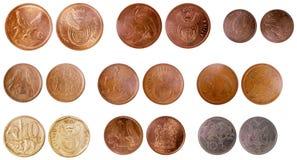 非洲的混杂老硬币 图库摄影