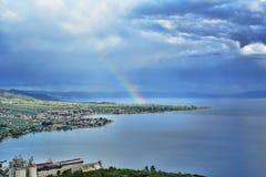 非洲秀丽肯尼亚本质彩虹视图 库存照片