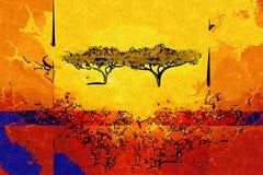 非洲种族减速火箭的葡萄酒艺术 免版税图库摄影