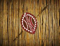 非洲种族部落盾&矛 免版税图库摄影