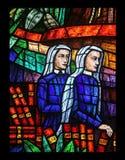 非洲窗口在Votiv Kirche在维也纳 库存图片