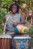 非洲竖琴家 免版税库存图片