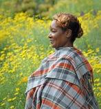 非洲纵向妇女 免版税库存照片