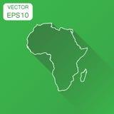非洲线性地图象 企业绘图概念概述Afr 皇族释放例证