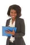非洲美丽的女实业家 免版税库存照片