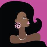 非洲美丽的妇女。传染媒介例证。 皇族释放例证