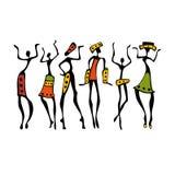 非洲美丽的妇女 皇族释放例证