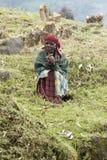 非洲老妇人-卢旺达 免版税库存图片