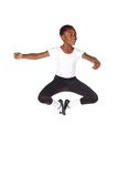 非洲芭蕾男孩年轻人 库存照片