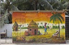 非洲街道艺术 免版税库存照片