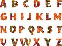 非洲-被仿造的字母表 免版税库存照片