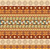 非洲装饰品-无缝的样式 免版税库存图片