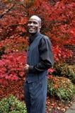 非洲裔美国人生意人微笑 免版税库存照片