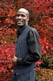 非洲裔美国人生意人微笑 库存照片