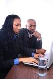 非洲裔美国人的业务伙伴 图库摄影