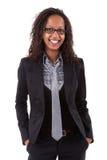 非洲裔美国人的企业微笑的妇女 库存照片