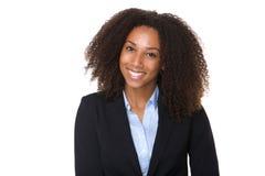 非洲裔美国人的企业确信的妇女 免版税库存照片