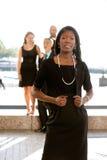 非洲裔美国人的可爱的女商人 库存图片