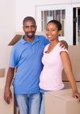非洲裔美国人的夫妇 免版税图库摄影