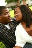 非洲裔美国人的夫妇lookin 免版税库存图片