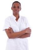 非洲裔美国人的女性医疗保健工作者 免版税图库摄影
