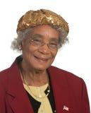 非洲裔美国人的愉快的夫人 免版税库存照片