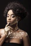 非洲裔美国人的时装模特儿 库存照片