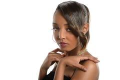 非洲裔美国人的纵向妇女年轻人 免版税库存图片