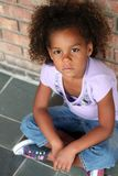 非洲裔美国人的美丽的女孩一点 免版税图库摄影