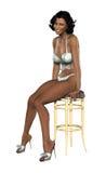 非洲裔美国人的美丽的妇女 皇族释放例证
