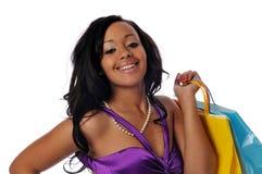 非洲裔美国人的顾客 免版税图库摄影