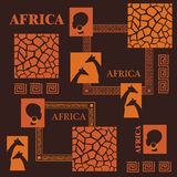 非洲设计 库存照片