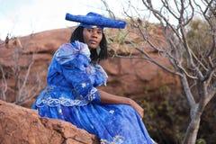 非洲赫勒娄族 库存图片