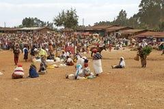 非洲部族市场 库存照片