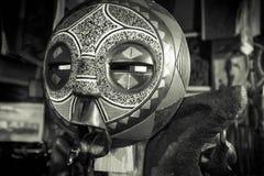 非洲部族马塞人面具 免版税库存照片