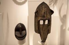 非洲雕塑西雅图艺术博物馆内部 免版税库存照片