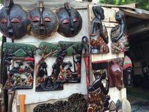 非洲雕塑 图库摄影