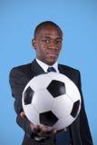 非洲风扇足球 免版税库存图片