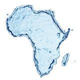 非洲飞溅水 免版税库存照片