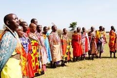 非洲马塞人妇女 库存照片