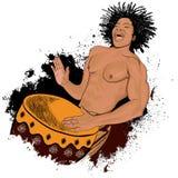 非洲鼓手 免版税图库摄影