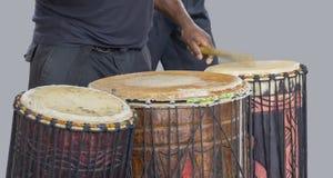 非洲鼓球员 库存照片