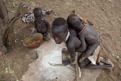 非洲,南埃塞俄比亚, Omo谷 免版税库存照片